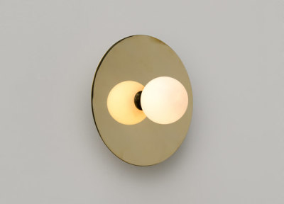 Disc and Sphere Wall Lamp by Atelier Areti