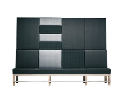 Edge Sofa High-E/62 + Wall Panels by Hutten
