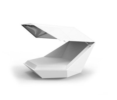 Faz daybed with Parasol White