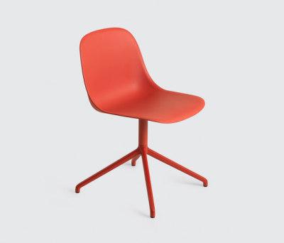 Fiber Side Chair | swivel base dusty green Dusty Red/Dusty Red