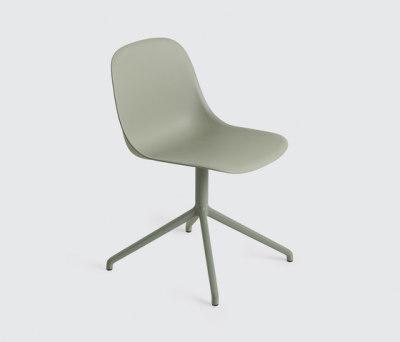 Fiber Side Chair | swivel base dusty green Dusty Green/Dusty Green