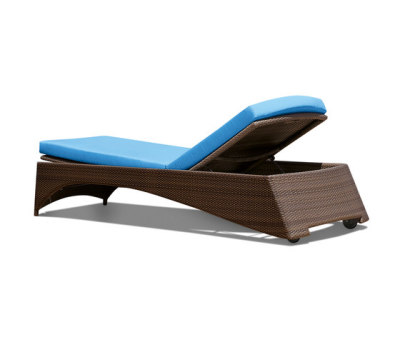 Florida Pompano Beach Sun lounger synthetic weave by Rausch Classics