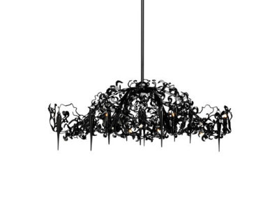 Flower Power chandelier oval by Brand van Egmond