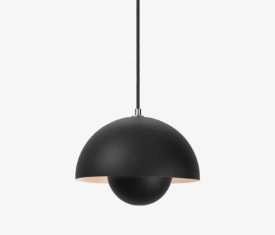FlowerPot Pendant VP1 matt black by &TRADITION