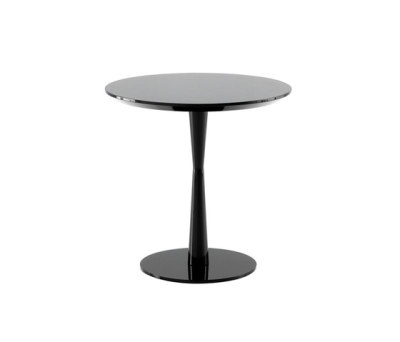 Flute coffe table by Poliform h 50.2cm,91 carbone glossy lacquered colour