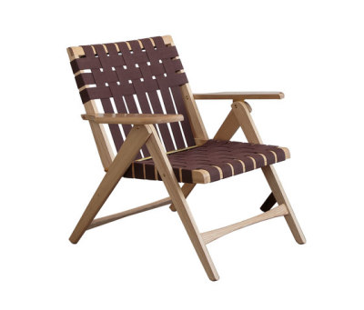 Folding Lounge Chair Oak by Todd St. John