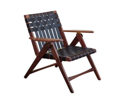 Folding Lounge Chair Walnut by Todd St. John