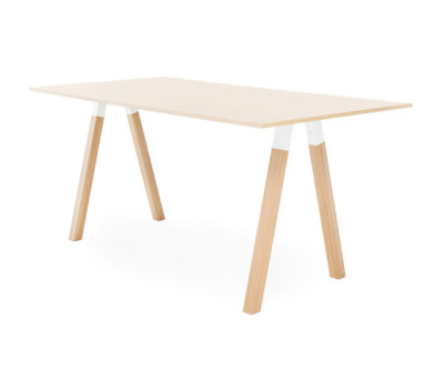 Frankie conference table high wooden A-leg 110cm wood by Martela Oyj