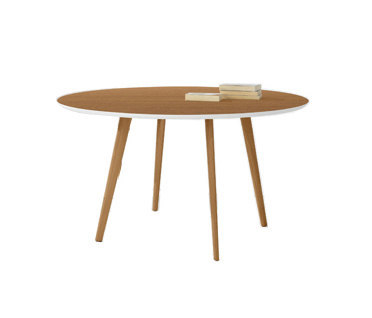 Gher h74 Round top by Arper L0023 Legs, MDF MD Ø cm 120 L0023 Top