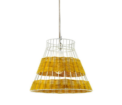 Hanging Lamp Rattan white/yellow by Serax