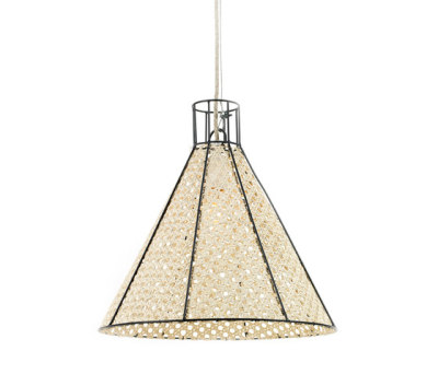 Hanging Lamp Reed Net black by Serax