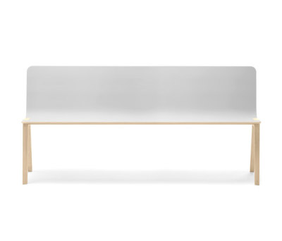 Heldu Bench high backrest by Alki