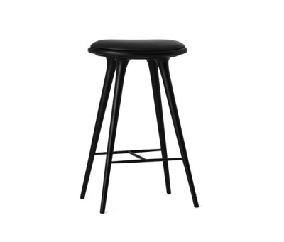 High Stool black stained hardwood 74 by Mater