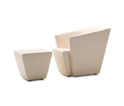 Ice Cube Armchair I Pouf by Jori
