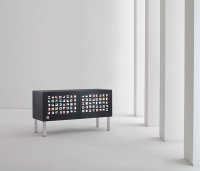 Intarsia | Sideboard Quadratini Magici by Laurameroni