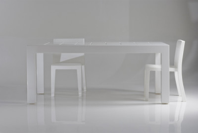 Jut table 180 x 90 x 75 cm White