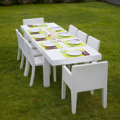 Jut table 280 x 90 x 75 cm White