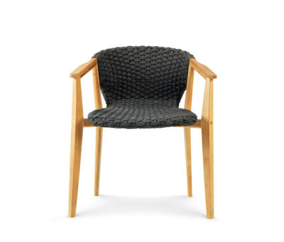 Knit dining armchair by Ethimo