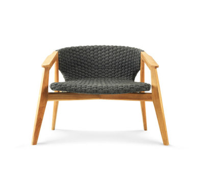 Knit lounge armchair by Ethimo