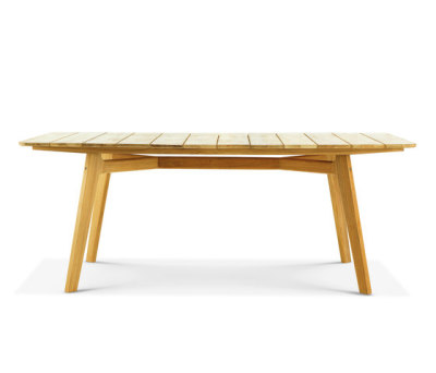 Knit rectangular dining table by Ethimo