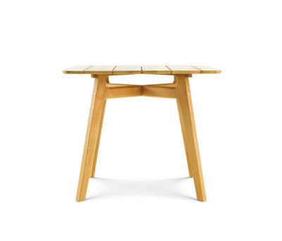 Knit Square dining table by Ethimo