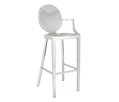 Kong Barstool with arms Hand-brushed