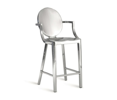 Kong Counter stool with arms Hand-brushed