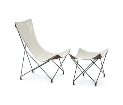 LAWRENCE 390|391 lounge chair with footstool by Roda
