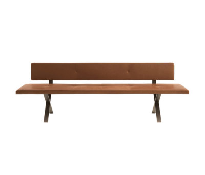 Lax | Upholstered Bench with Backrest by more