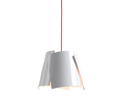 Leaf 28 pendant white/ red cable by Bsweden