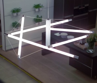 Light Structure T5 pendant by Archxx