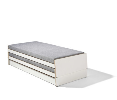 Lönneberga MDF stacking bed by Lampert
