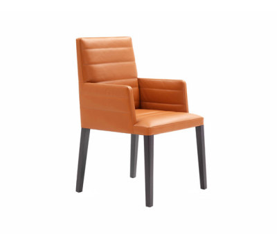 Louise Chair with armrest by Poltrona Frau