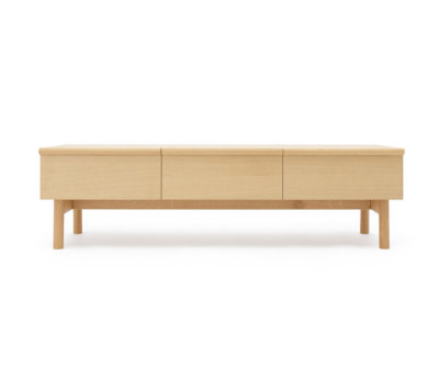 Low sideboard with three drawers by Bautier
