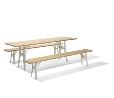 Ludwig table and bench by Lampert