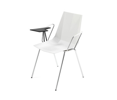 Mayflower chair with writing board by Materia