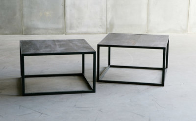 Mesa Leather coffee table by Heerenhuis