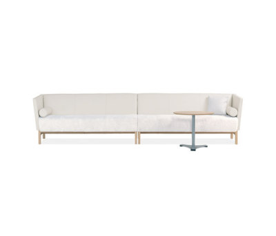 Minimal 6-seater sofa by Materia