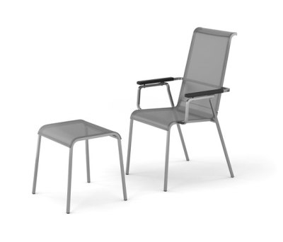 Modena armchair adjustable with footrest by Fischer Möbel