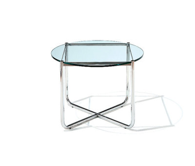 MR Table - Black Glass Top 72.5D x 52H cm