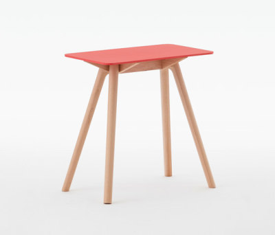 Nadia Side Table Rectangular Red by Meetee