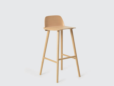 Nerd Bar Stool | high Beech