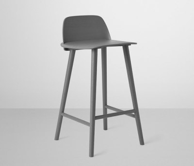 Nerd Bar Stool | low Dark Grey