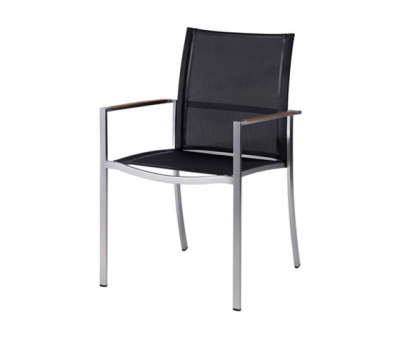Nero Stacking Chair With Arms by Akula Living