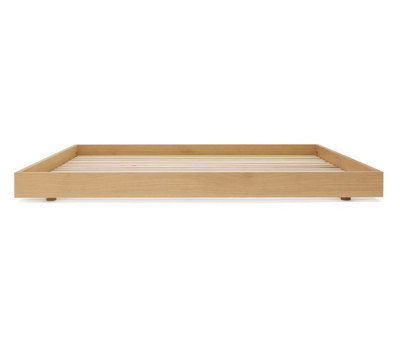 Oak bed double by Bautier