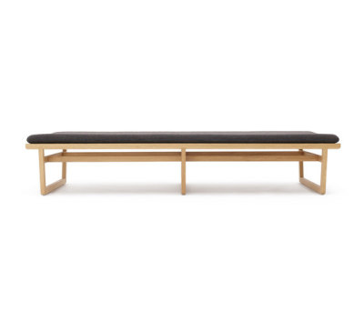 Oak bench large by Bautier