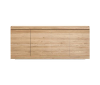 Oak Burger sideboard - 4 opening doors