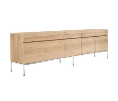 Oak Ligna sideboard - 5 doors - 5 drawers