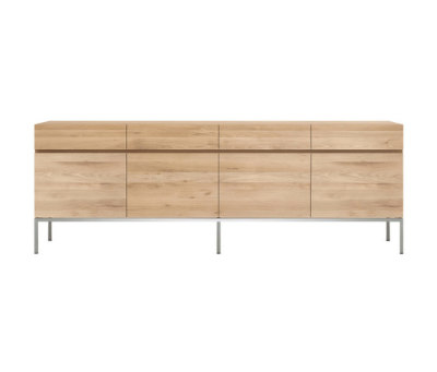 Oak Ligna sideboard - 4 doors - 4 drawers