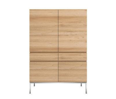 Oak Ligna storage cupboard by Ethnicraft